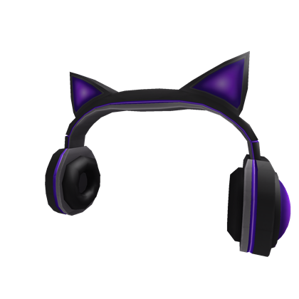 Purple Cat Ears Headphones | Roblox Wikia | FANDOM powered ...