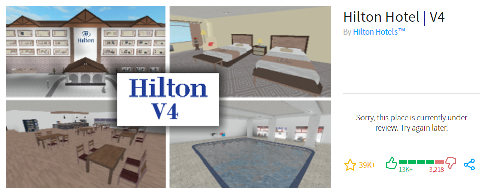hilton hotels roblox discord code