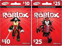 $10 and $25 Roblox Gift Card (2011)