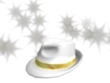 90434363eed39 Sparkle Time Fedora · Gold Sparkle Time Banded Boss White Hat