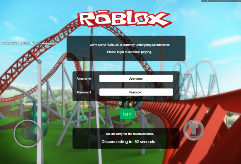 How To Login To Roblox On Pc Maintenance Roblox Wikia Fandom