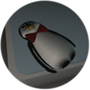 Arctic Mr Flibble Badge