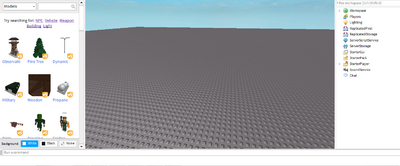 ROBLOX Studio layout