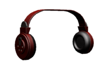 Blood Red Headphones