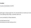 ROBLOX Suicidal Help Message