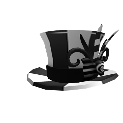 File:Black & White Top Hat.png