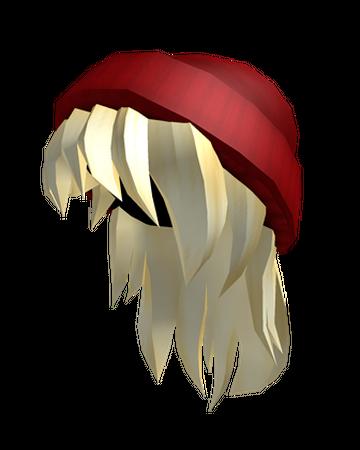 Red Beanie Blonde Hair Roblox Wikia Fandom