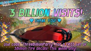 3 Billion Visits
