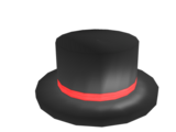 Red Banded Top Hat
