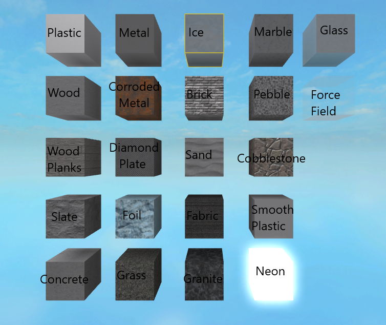 Materials Roblox Wikia Fandom Powered By Wikia - roblox material value