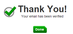 Verified email thanks