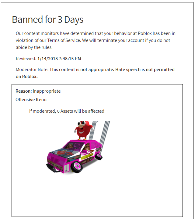 Banned Because Of Knuckles Roblox Wikia Fandom