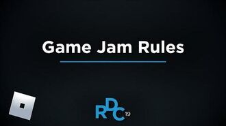 Game Jam Rules Video RDC 2019