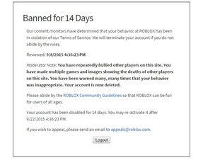 14 Day Ban