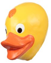 Gh26762 rubber ducky duck adult latex mask