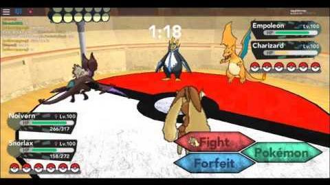 Glitch in Battle Coloseum, Pokemon Brick Bronze