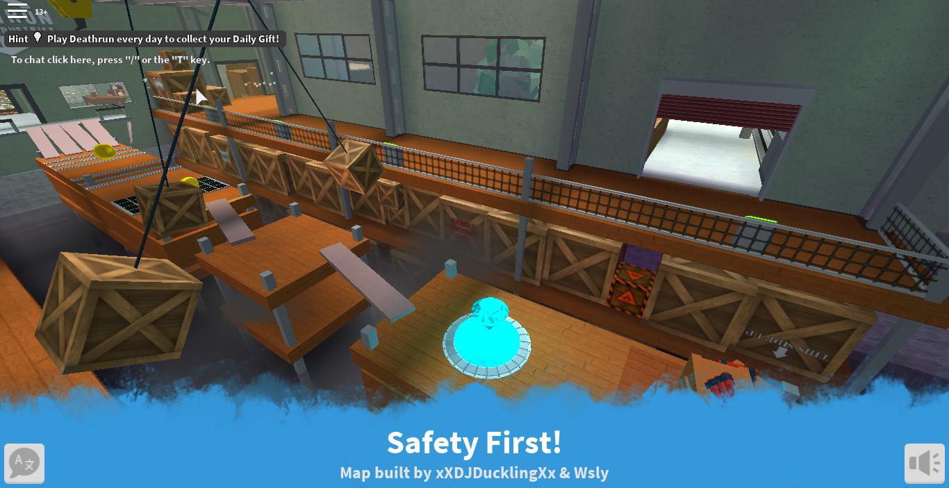 Safety First Roblox Deathrun Wiki Fandom - death run roblox