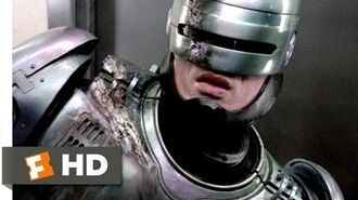 RoboCop (8 11) Movie CLIP - RoboCop vs. ED 209 (1987) HD