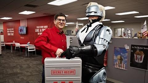 KFC KFC Hires RoboCop to Protect Secret Recipe Colonel Robocop