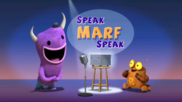 Robot and monster speak marf speak title card