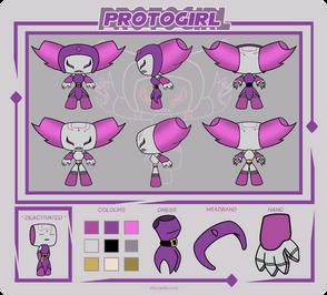 Protogirl Reference Sheet by KatMaz