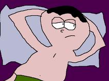 Clyde Relaxing in Bed