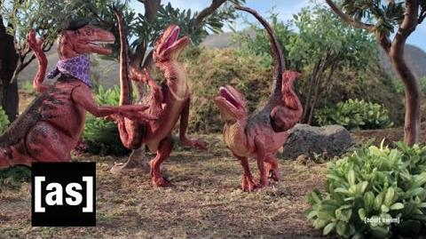 Velociraptor Practice Robot Chicken Adult Swim