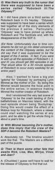 Robotech III The Odyssey Carl Macek Interview