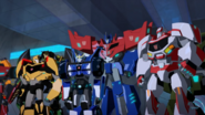 Bumblebee, Grimlock, Strongarm, Optimus and Ratchet are Victorious