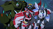 Ratchet, Bulkhead, Windblade and Jazz (Freedom Fighters)