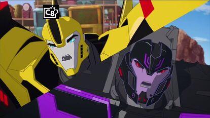 Bumblebee and Motormaster in Beginning Scene