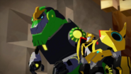 Bumblebee and Grimlock (After Scowl's Defeat)
