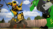 Bumblebee and Grimlock with Scorponok