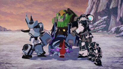 Bee Team with defeated Crustacion