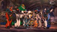 Bee Team with Dropforge and Cybertron Police officers