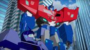 Optimus and Hi-Test (After Soundwave's Defeat)