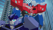 Optimus and Hi-Test (After the Battle)