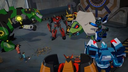 Bee Team, Russell, Denny and Blurr with Springload