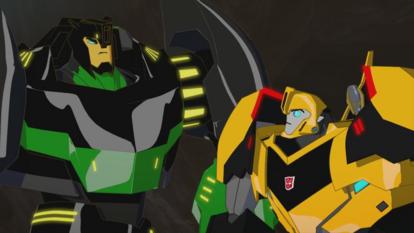 Grimlock and Bumblebee (Pretzel Logic (1))