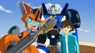 Fixit, Russell, Strongarm and Decepticon Hunter
