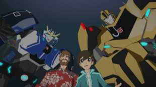 Bumblebee, Russell, Strongarm and Denny (Brainpower)
