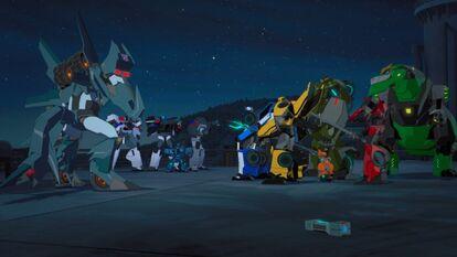Bee Team & Steeljaw vs. Dropforge & Cybertron Polices