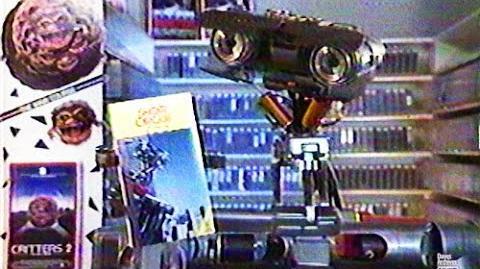 Commercial À La Carte Short Circuit 2 VHS Rental Promo 1987
