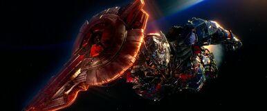 Optimus Prime Leaving Earth