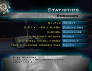 Robocow stats