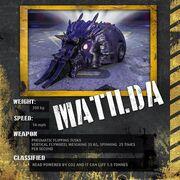 Matilda stat card