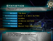 Trident stats