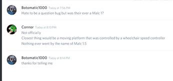 Conraa's response to a Malc1
