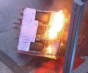 Chompalot on fire