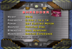 Shredder Stats